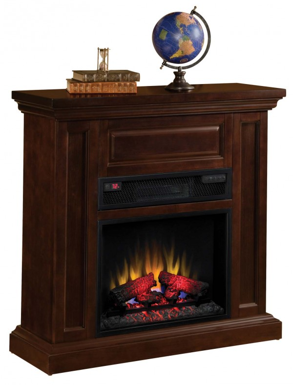 International Fireplace Faux Portable Fireplace Small Rustic Tabletop