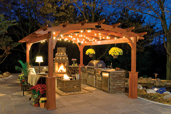Country Lane's Hearthside Pergola