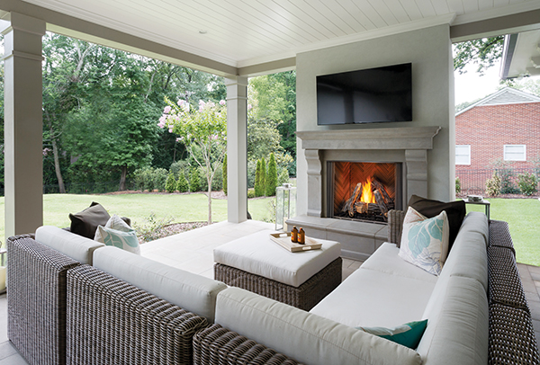 Courtyard Outdoor Gas Fireplace